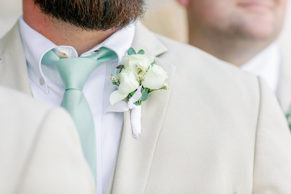 Groom's Tie and Boutonnière
