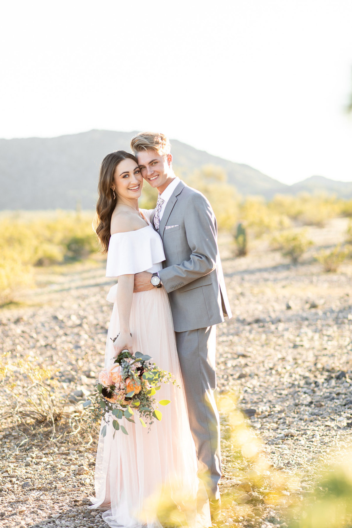 Mountain Estrella Sunset Engagement Session with MaeWood Photography-11