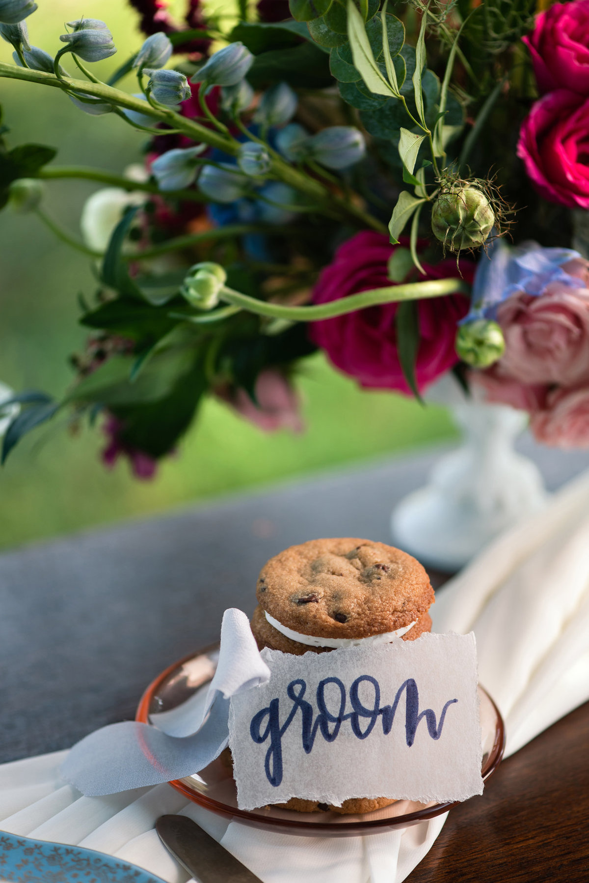 cookie stack and place card
