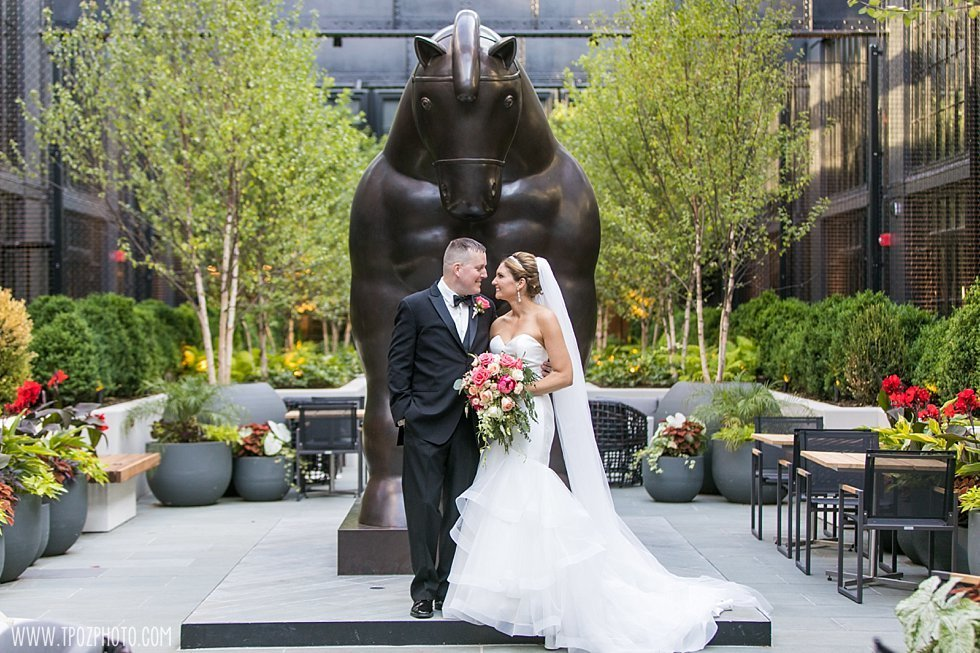 Sagamore Pendry Hotel Baltimore wedding courtyard  ||  tPoz Photography