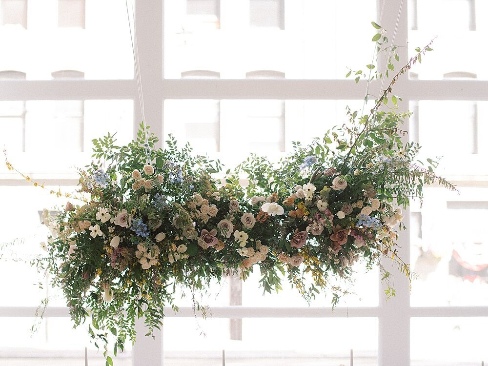 Modern-love-event-leigh-and-mitchell-floral-hanging-installation