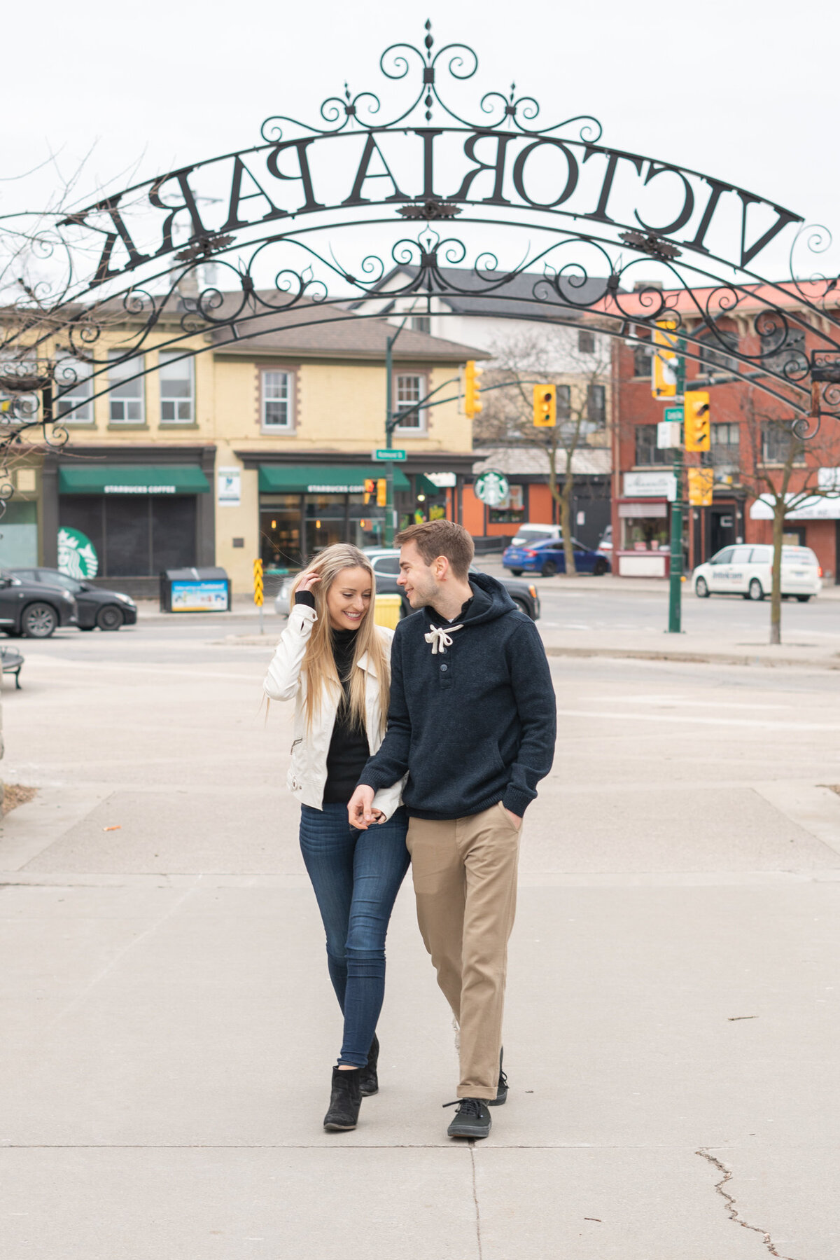 London Ontario Downtown Couple Engagement