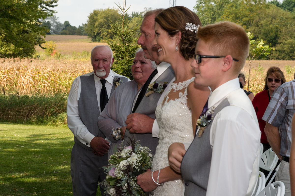father of bride gives away
