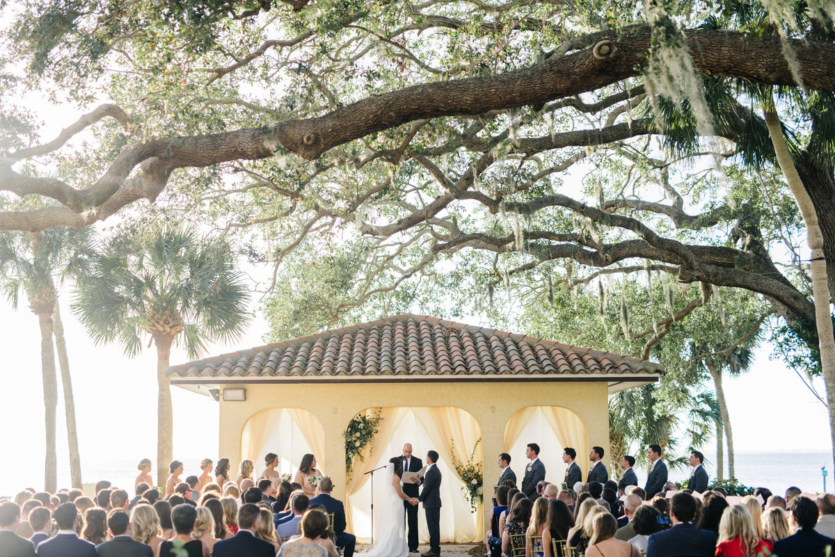 outdoor ceremony at the powel crosley estate