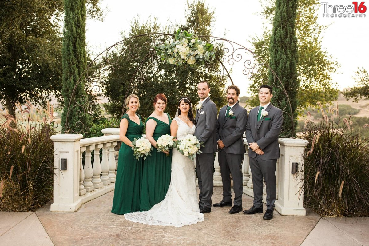Bridal party at the Vellano Country Club in Chino Hills, CA