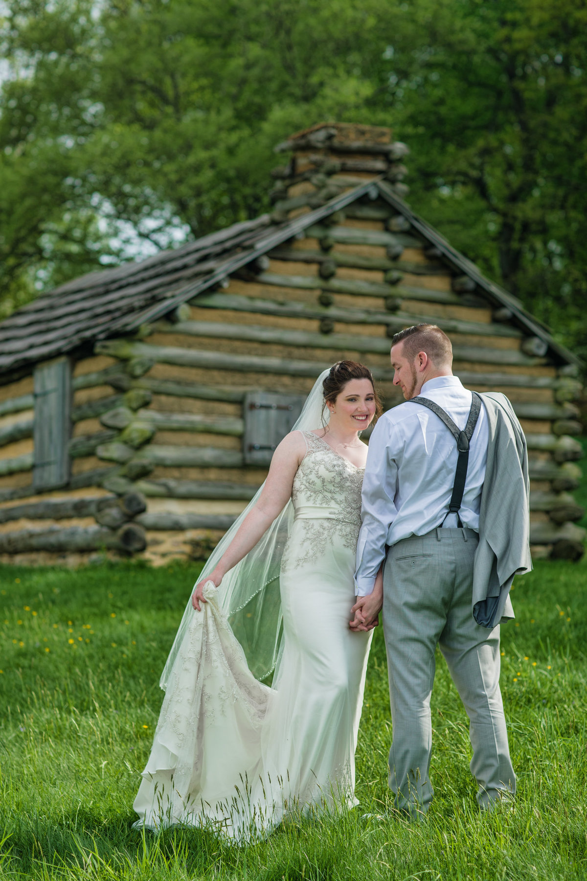 Bride and Groom in Valley Forge National Park
