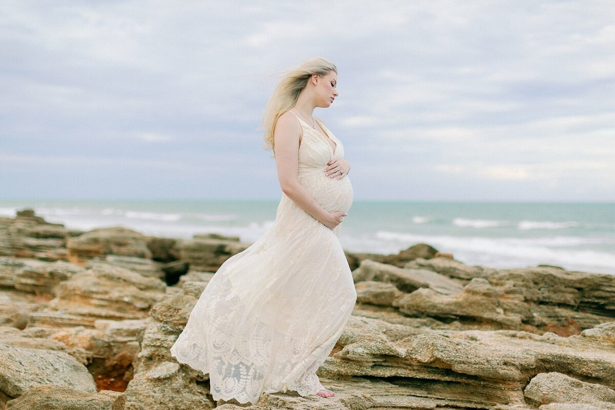 Ashley + Adrian Pamparau Washington Oaks State Park Maternity Session Photographer Casie Marie Photography-97