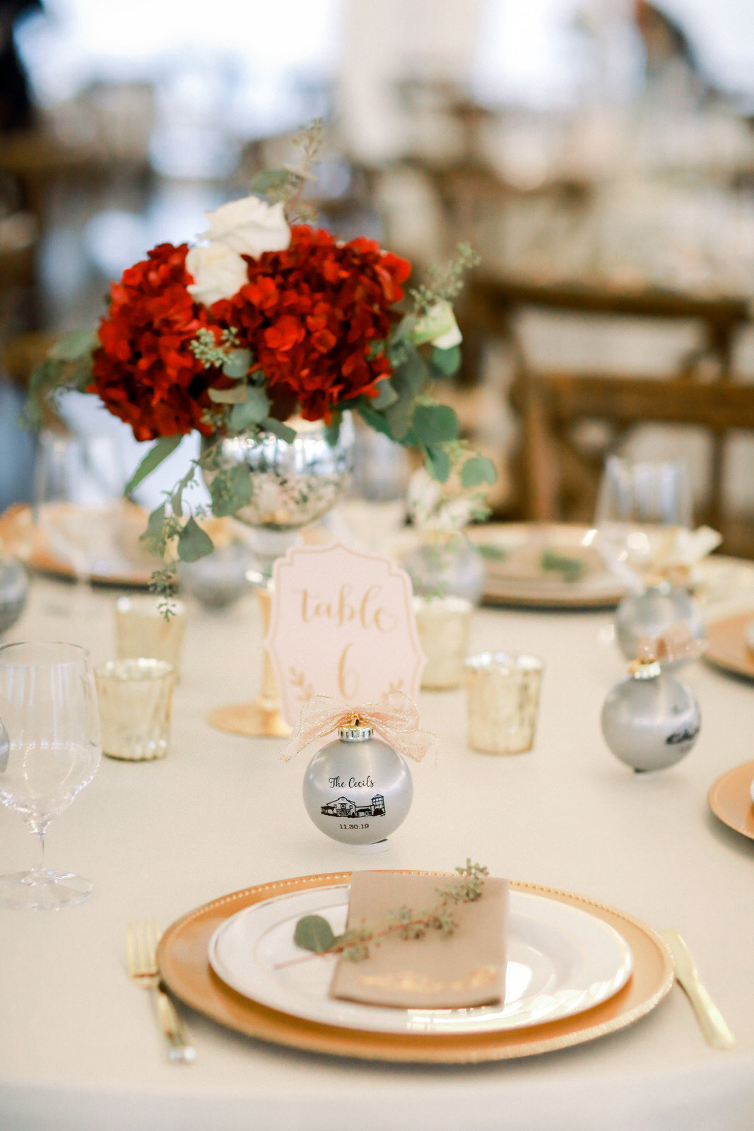 Wedding Photography Reception Details at Summerfield Farms in North Carolina