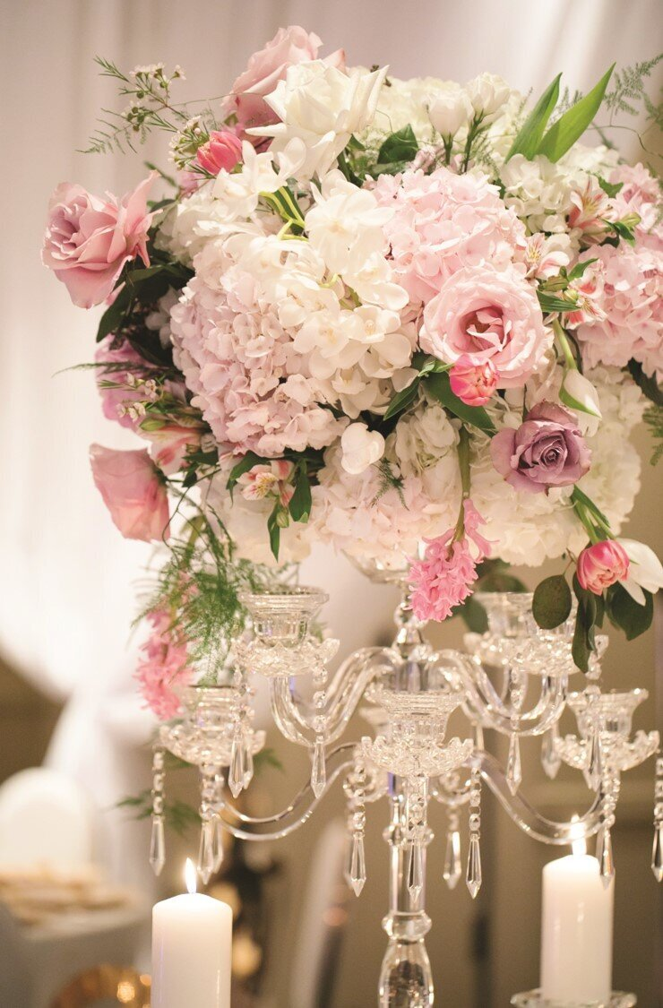 blush-gold-wedding-reception-florals-candelabra