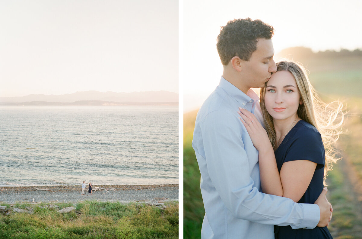 avender Wind Farm & Ebey's Landing on Whidbey Island Engagement - Water View Engagement in Seattle - Film Photography - Tetiana Photography - 1