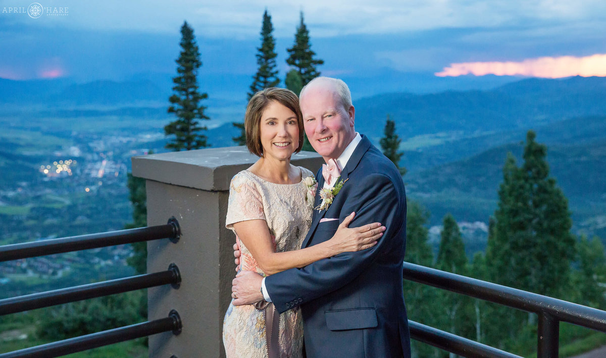 Steamboat Springs Resort Wedding Portrait During Summer