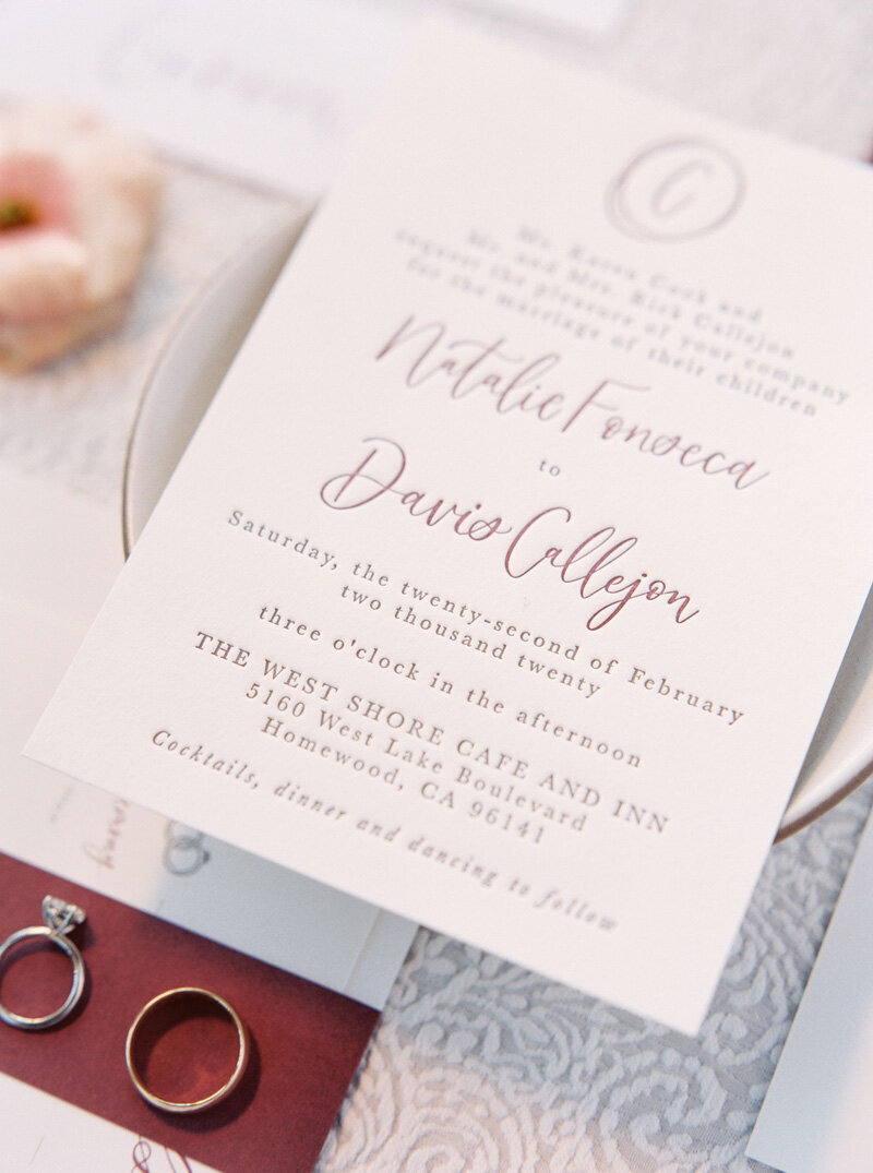 pirouettepaper.com _ Wedding Stationery, Signage and Invitations _ Pirouette Paper Company _ The West Shore Cafe and Inn Wedding in Homewood, CA _ Lake Tahoe Winter Wedding _ Jordan Galindo Photography  (10)