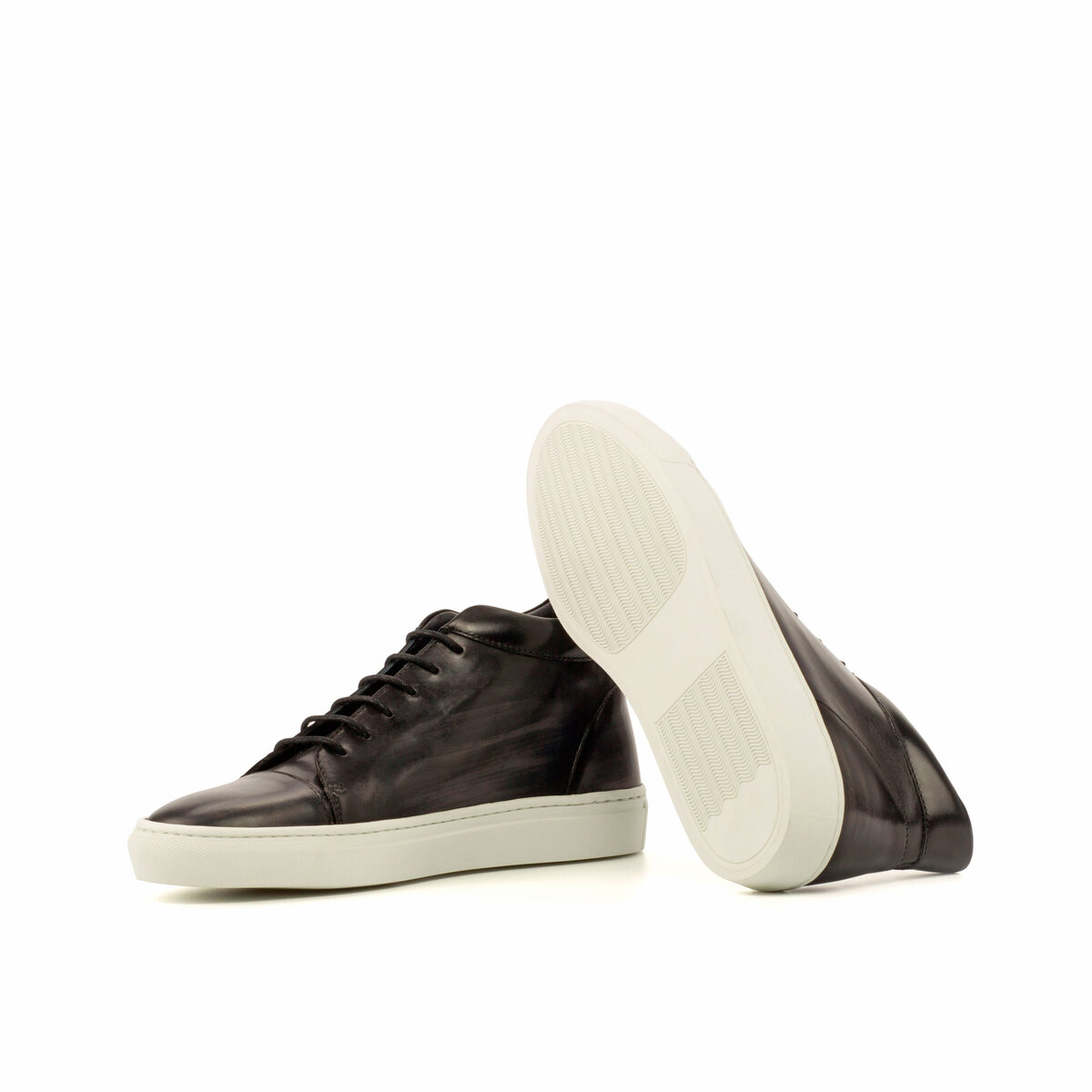 gps-shoes-high-top-patina-Grey-Box Calf Black
