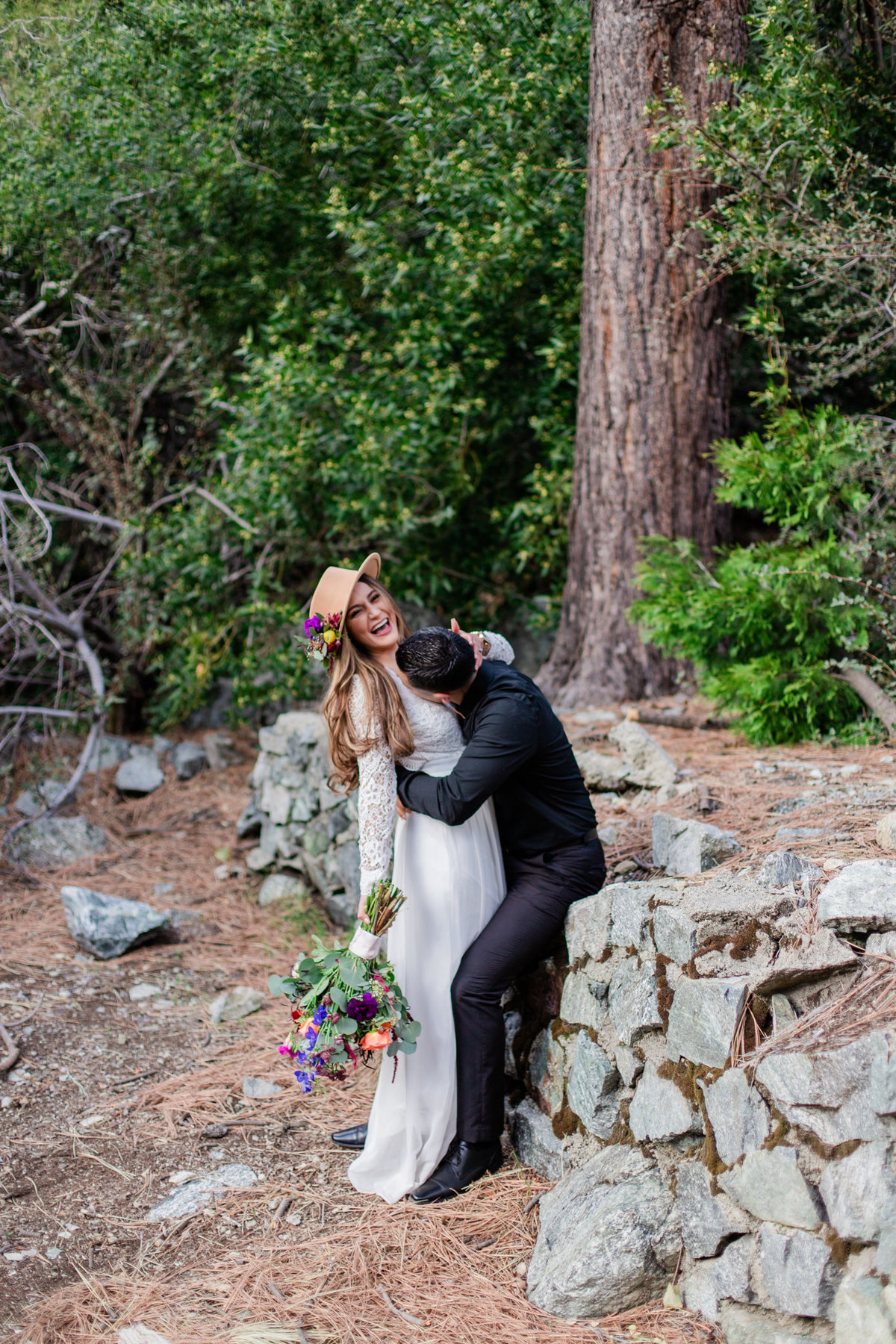 Mt. Baldy Elopement, Wildflower Bouquet, Mt. Baldy Styled Shoot, Mt. Baldy Wedding, Forest Elopement, Forest Wedding, Boho Wedding, Boho Elopement, Mt. Baldy Boho, Forest Boho, Woodland Boho S&W-18