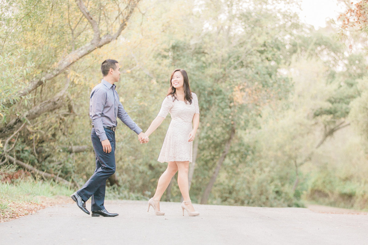 Outdoor Country Road Engagement Session