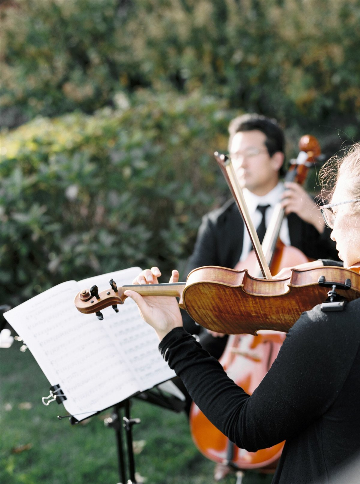 String trio ceremony at Wequassett Resort for a Cape Cod Wedding by luxury Cape Cod wedding planner and designer Always Yours Events