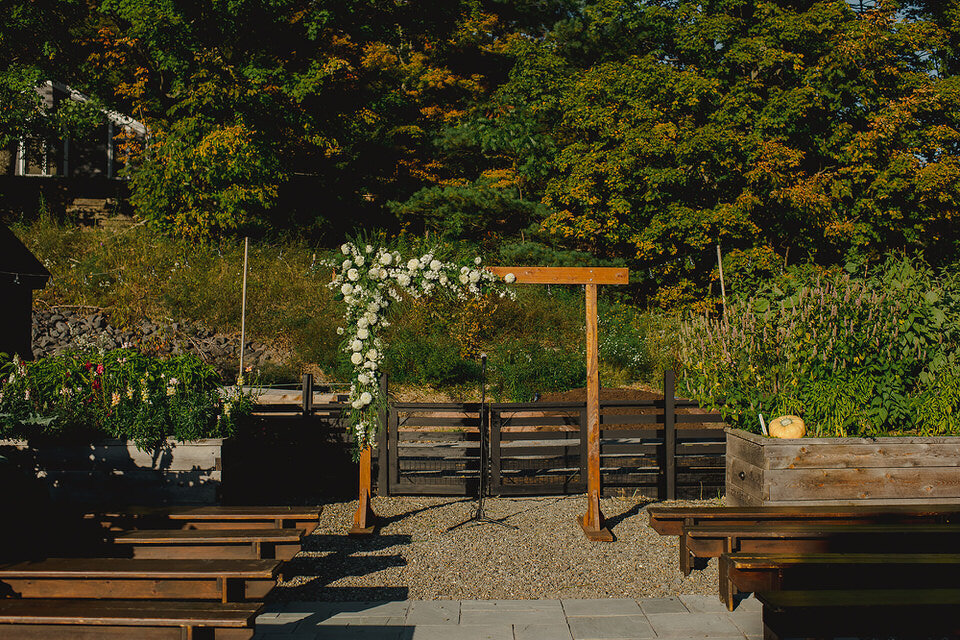 Wedding Ceremony Arch Scribners Lodge Wedding Catskills Wedding Venue Wedding Planner New York Upstate Wedding Planner Canvas Weddings