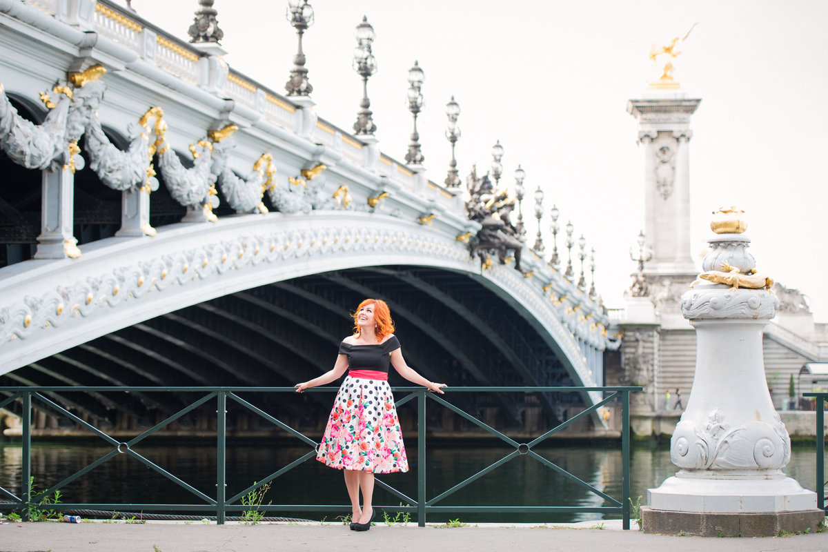 Paris portrait photoshoot at Pont Alexandre III Aug 2017-2