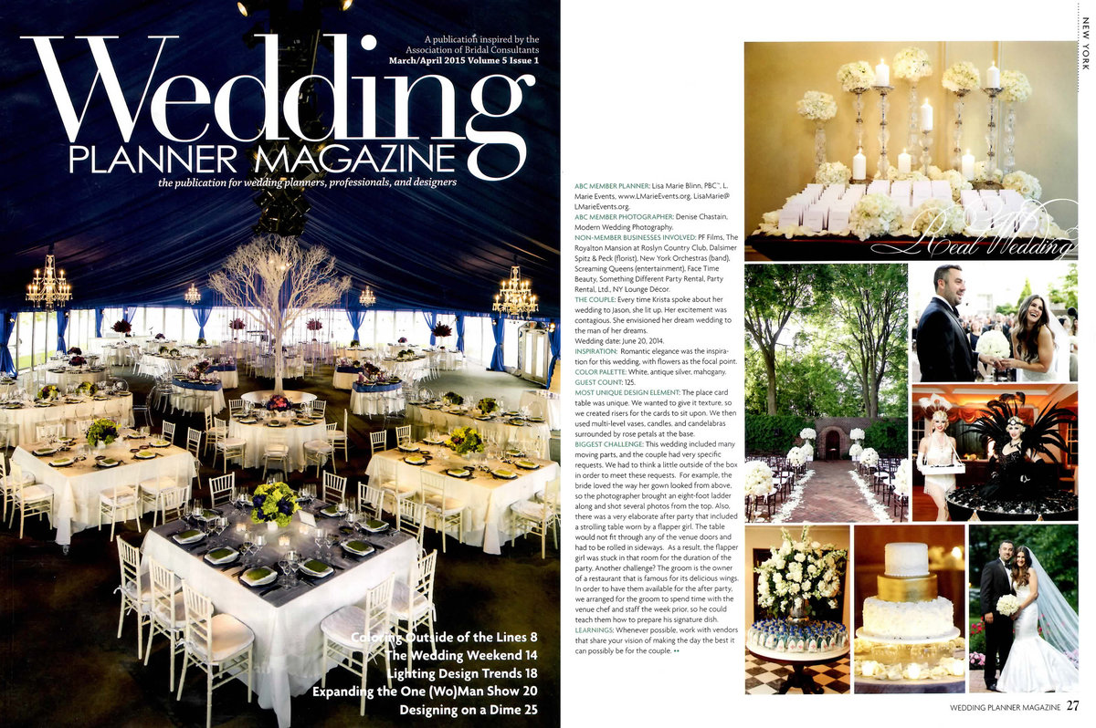 Wedding Planner Magazine March April 2015