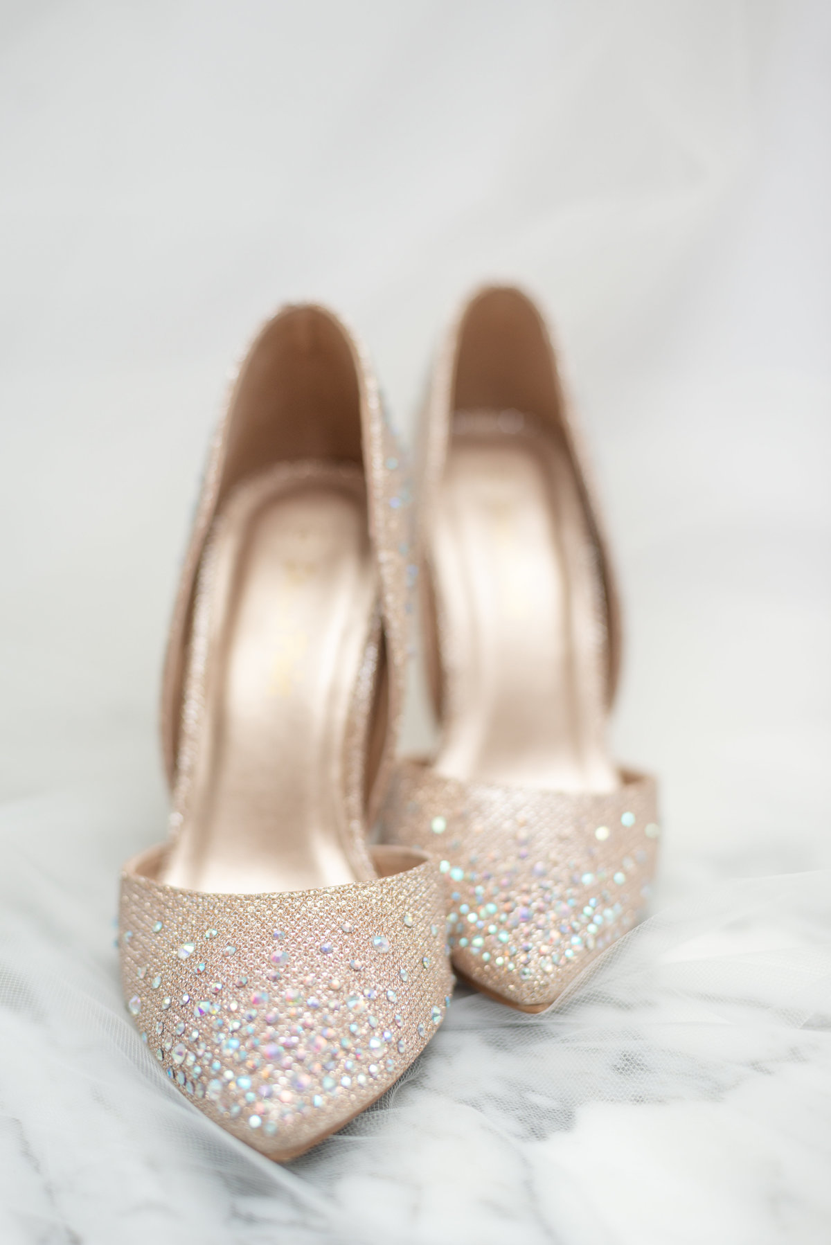 Sparkly wedding shoes from Amazon