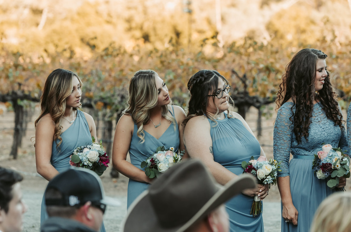 bridesmaids ceremony