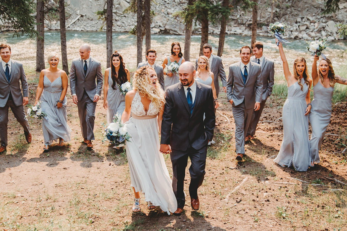 Bridal party picture by one of the top wedding photographers in Alberta