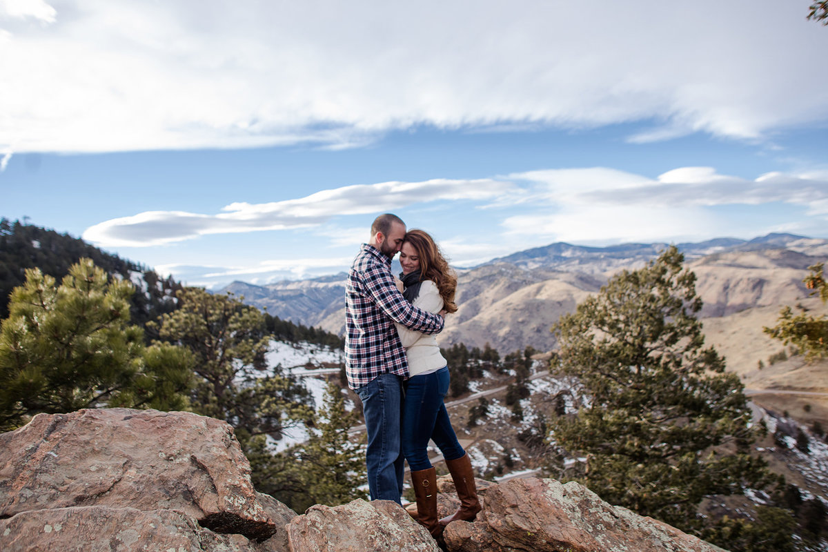 mountaintop engagement photos