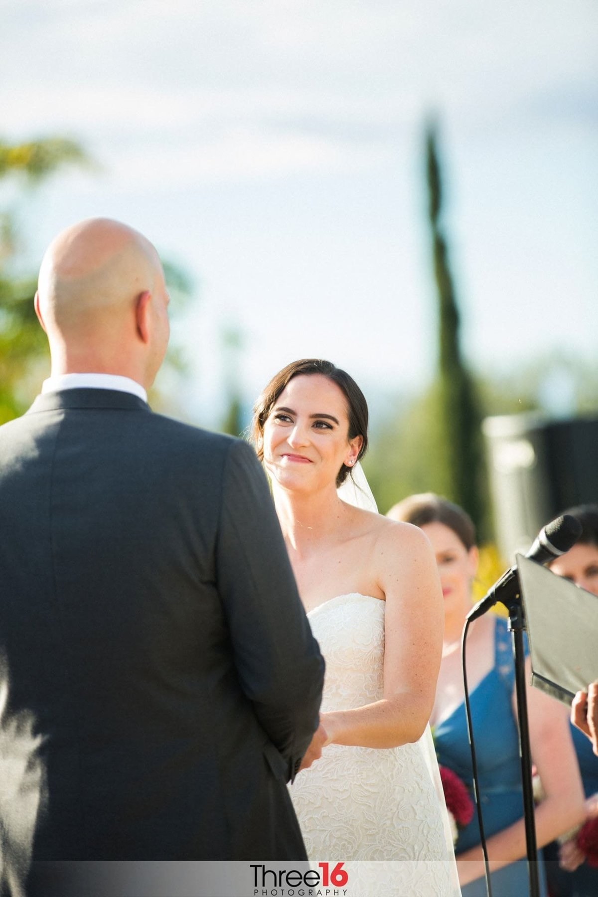 Bride gives her Groom a special glance