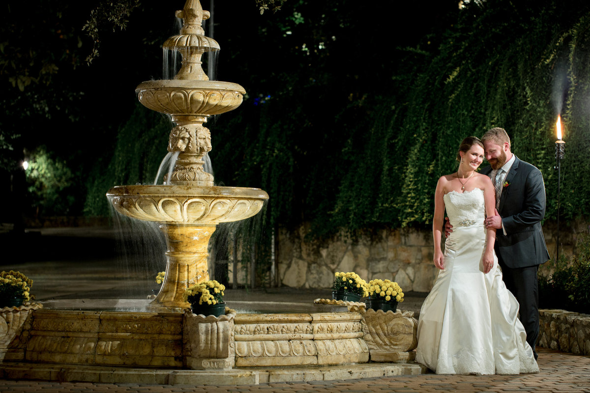Luxury wedding photographer Austin TX fountain Austin, TX