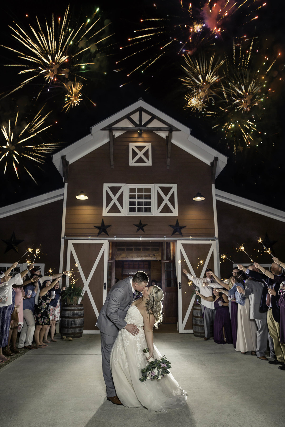 9 oaks farm fireworks wedding pictures monroe ga small