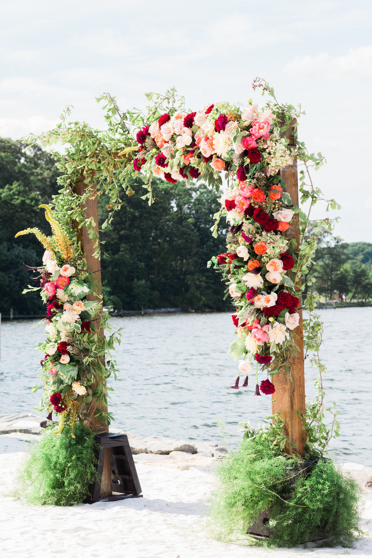 Annapolis wedding floral arbor