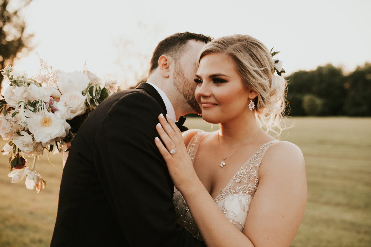 groom and bride mainline wedding florist