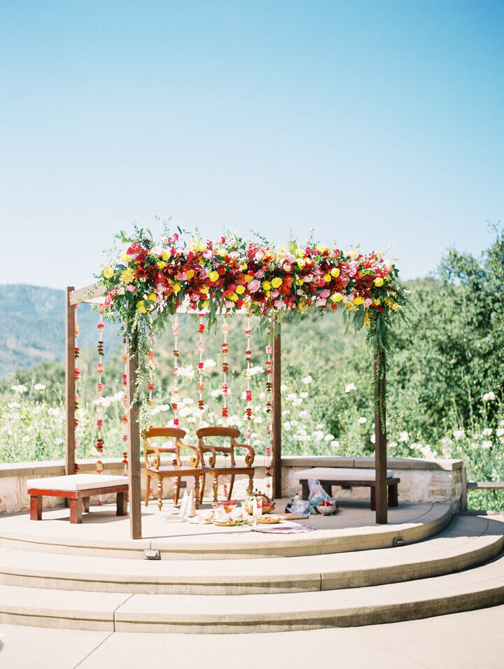 ceremony site at holman ranch