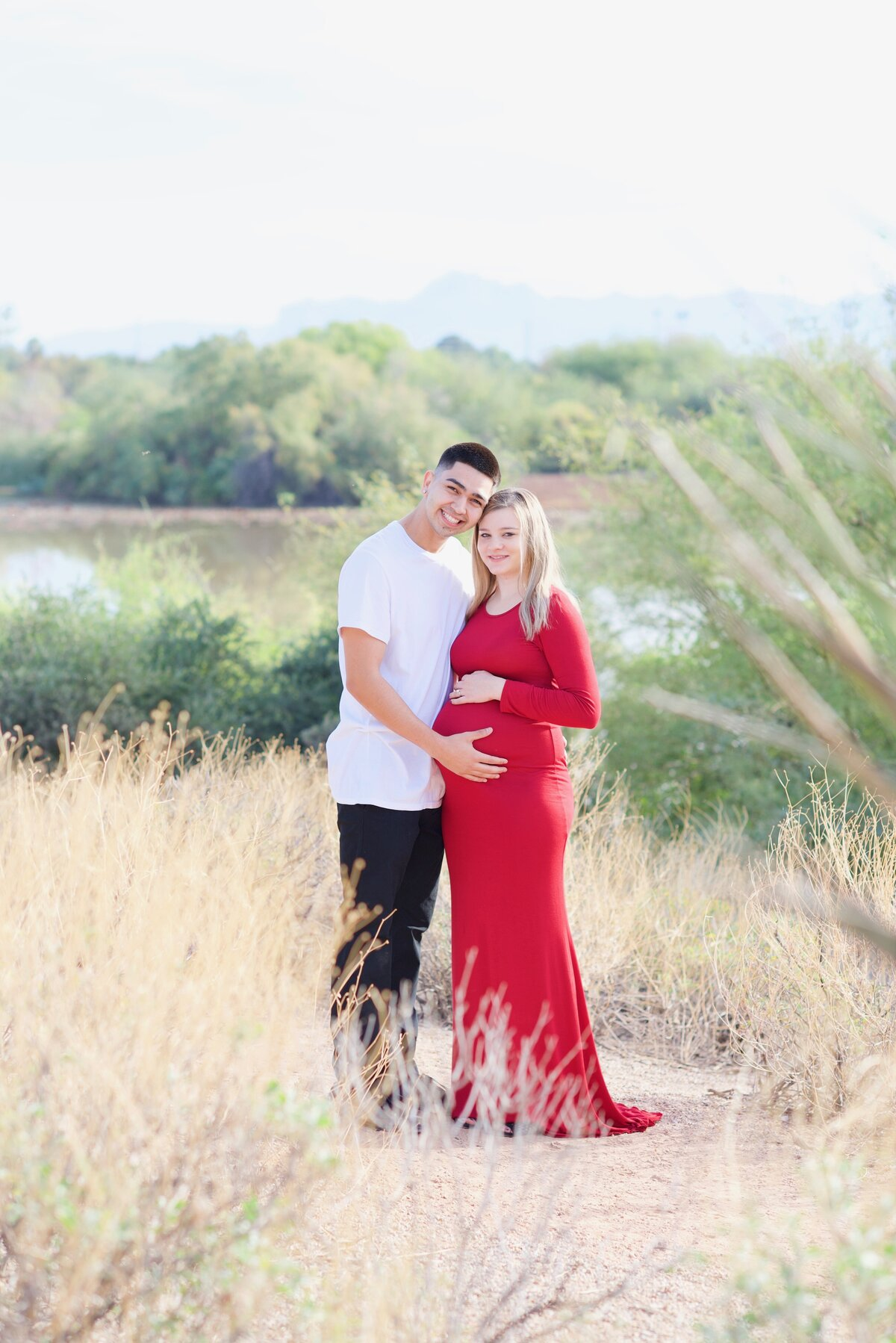 couples maternity session