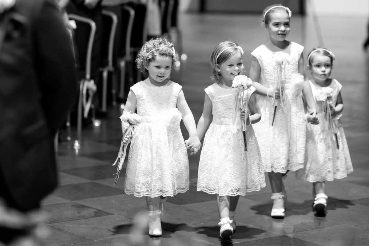 flower girls in torbay wedding