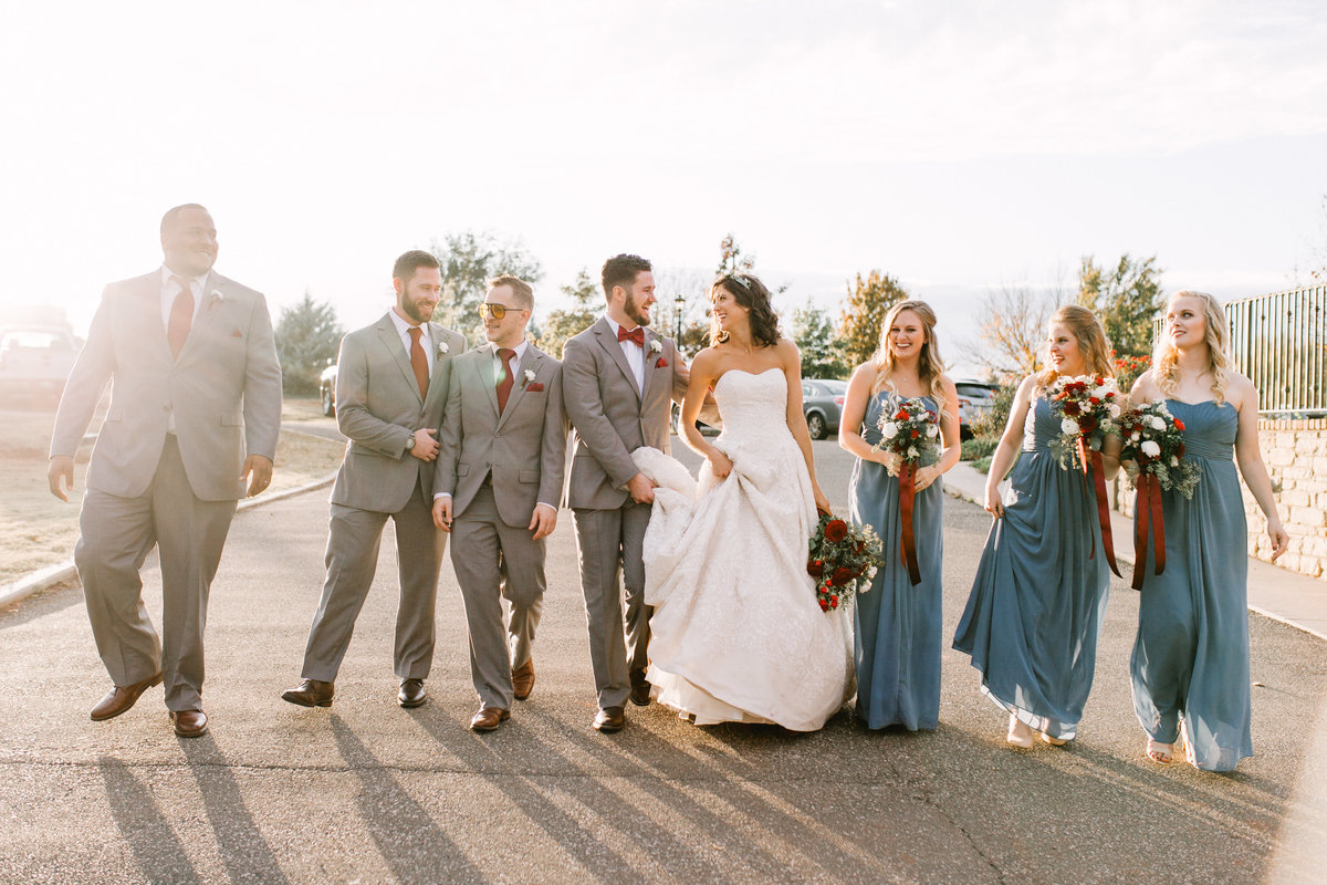 OKC Wedding Photographer Bride Groom Bridal Party