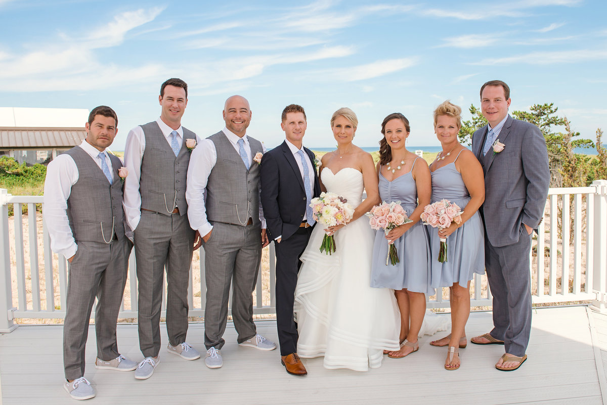 Bridal party at Oceanbleu Westhampton