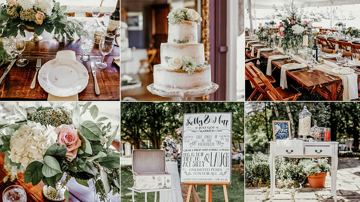 Gallery of vintage themed wedding elements