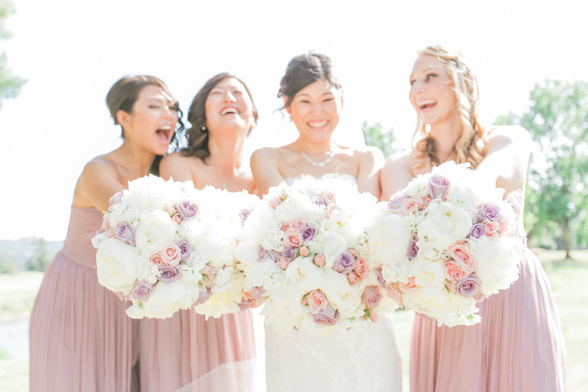 Pink Blush Ivory Wedding