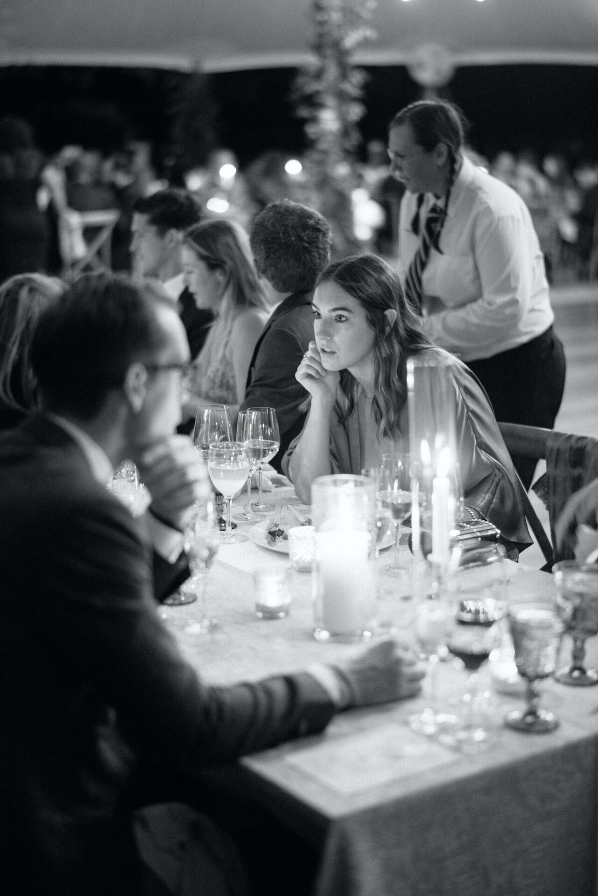 Candid Black and White Wedding Photography by Fine Art Film Photographer Robert Aveau for © Bonnie Sen Photography