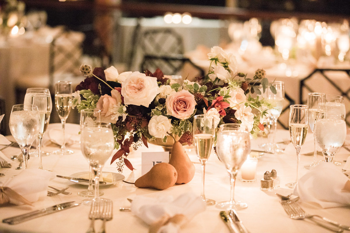 centerpiece Winterthur wedding Wilmington Delaware