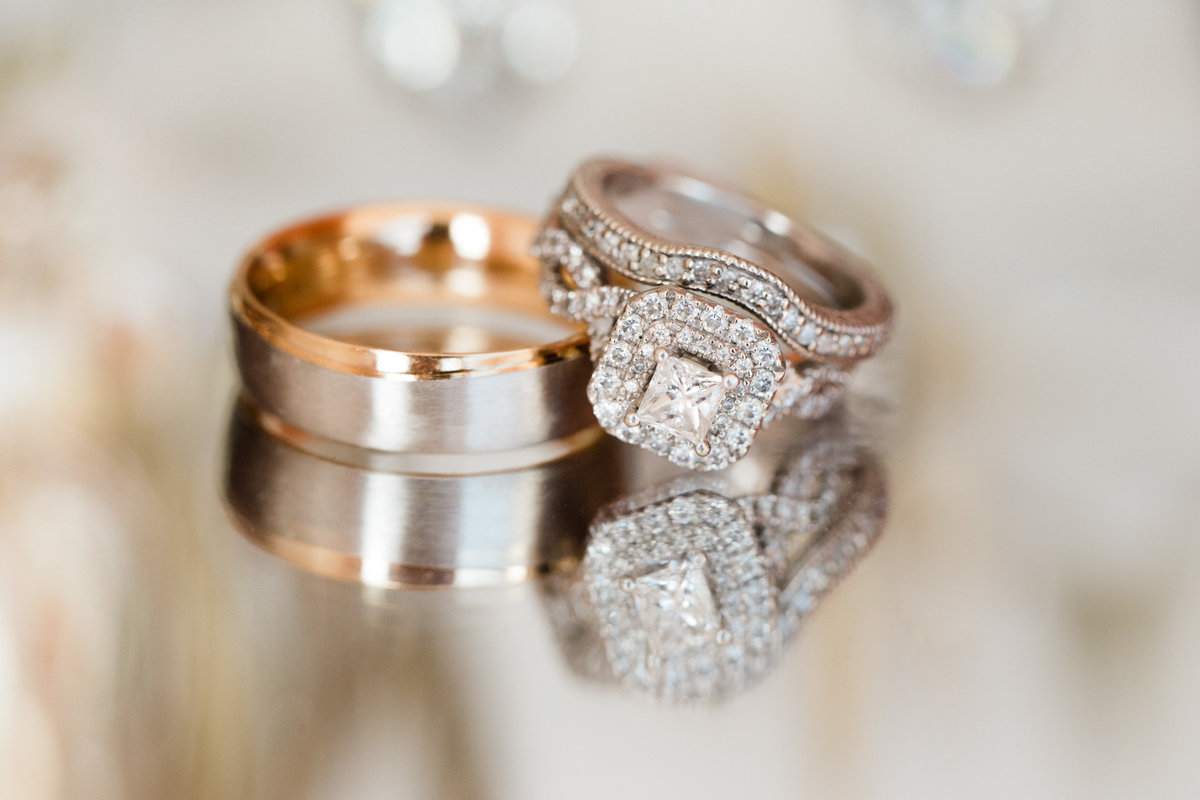 Classic wedding rings taken by Rebecca Cerasani Photography