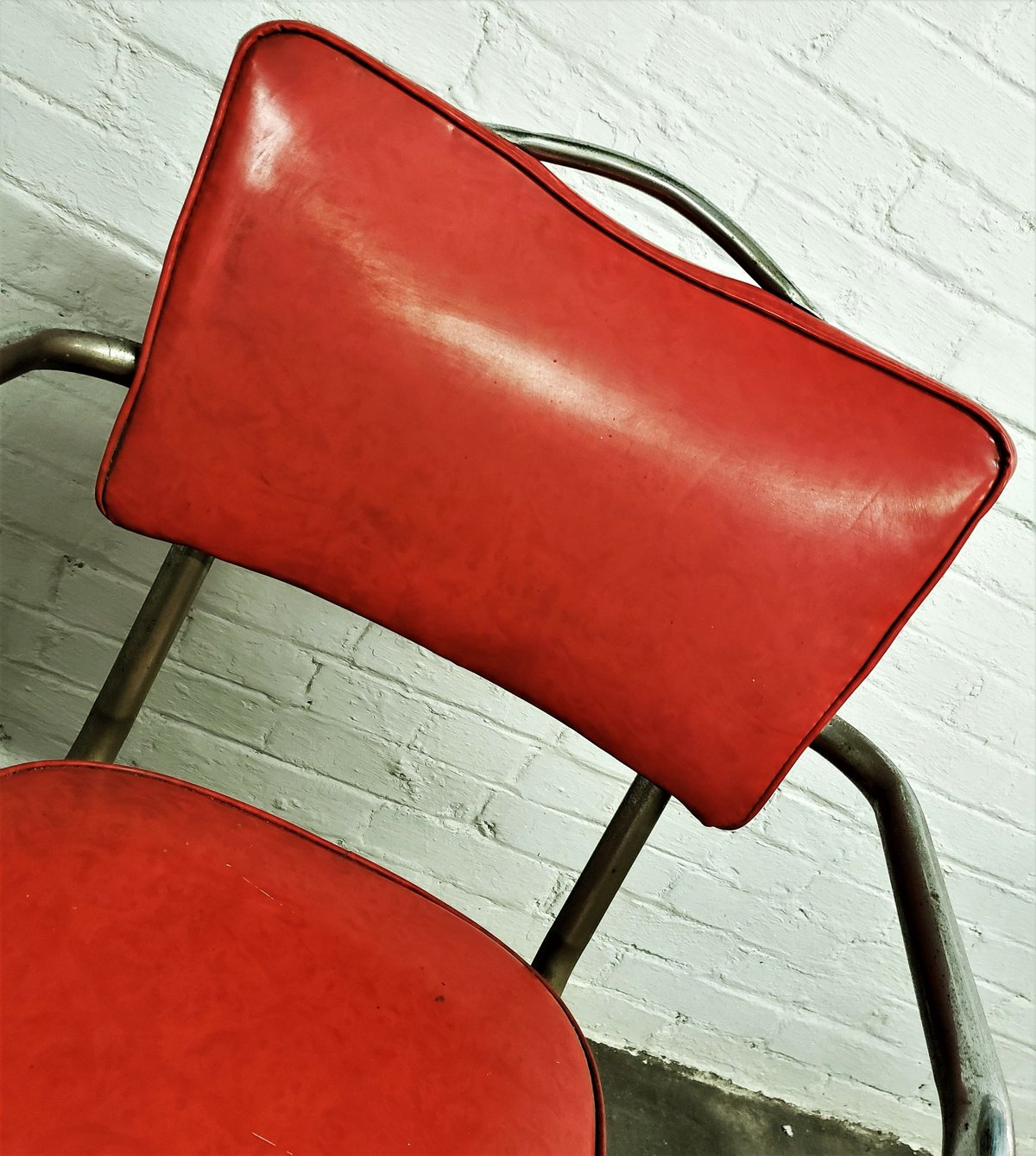 red kitchen chair