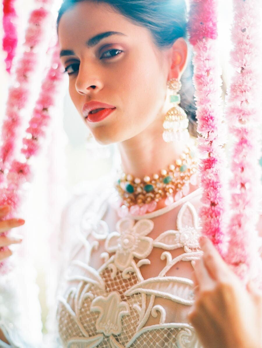 Bridal Portraits Indian Wedding Fine Art FIlm Photographer Bonnie Sen Photography