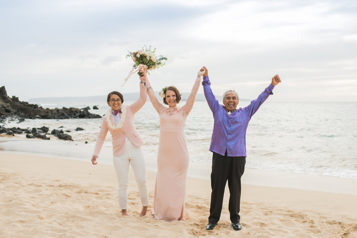Maui same sex wedding - Just married