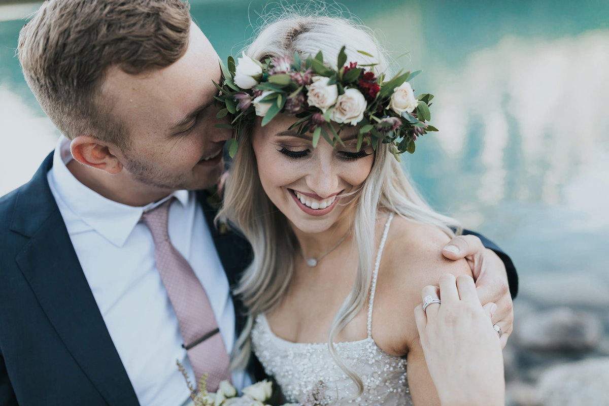 boho lake louise intimate wedding