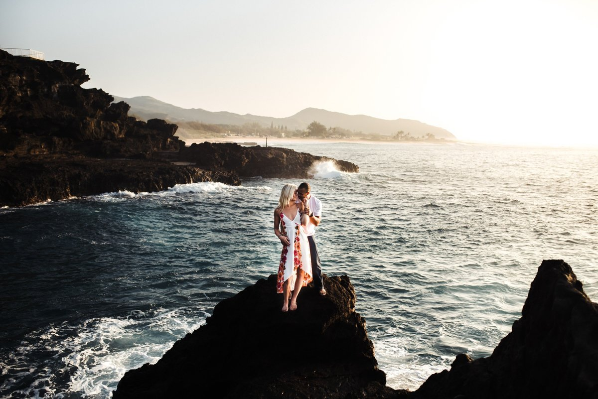 Eternity Beach Honolulu Hawaii Destination Engagement Session - 28