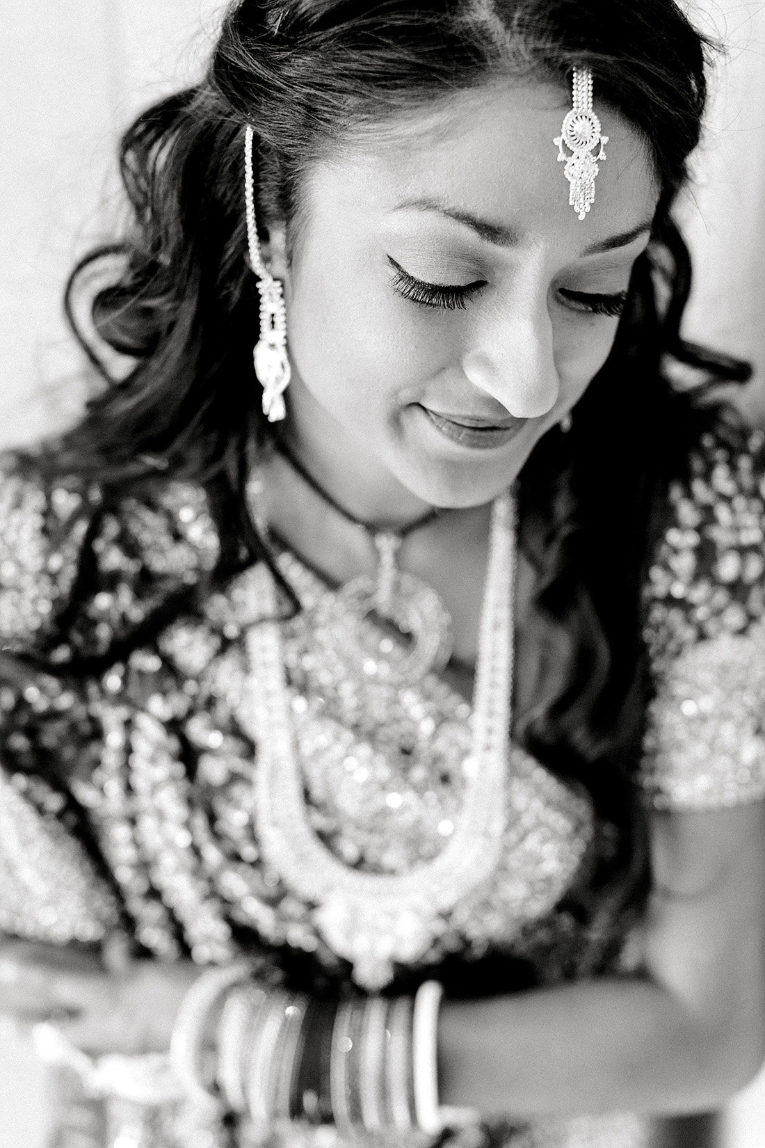 A classic indian bride before her Hindu wedding