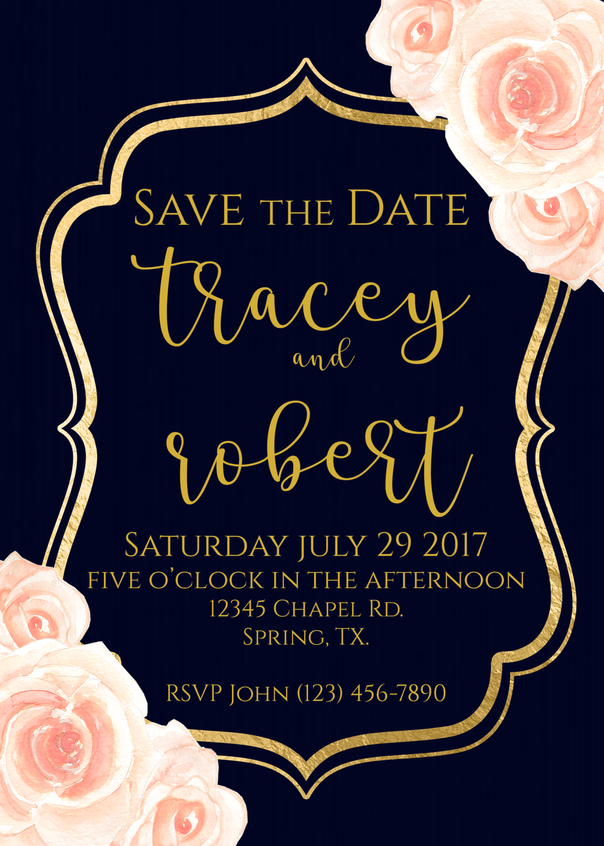 Blush Pink & Navy Save the Dates - Copy