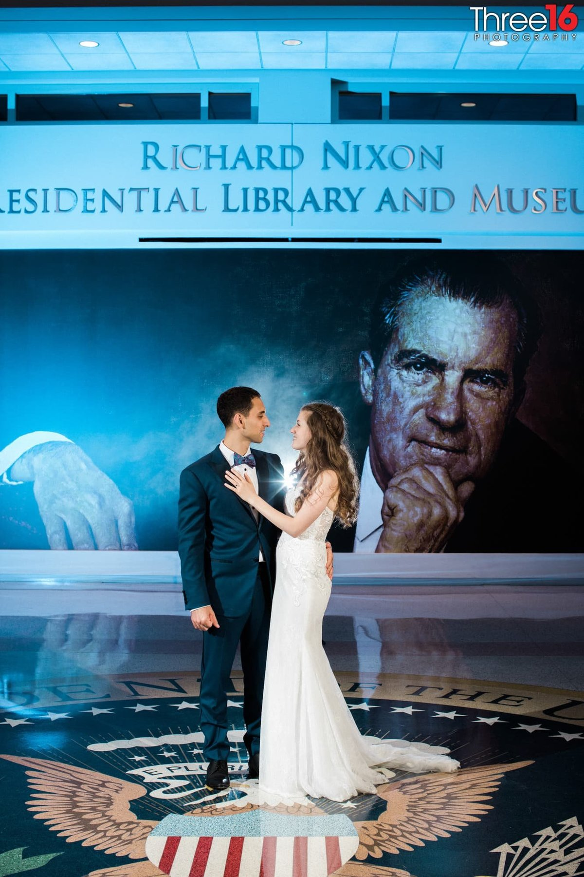 Richard Nixon Library Wedding Photo